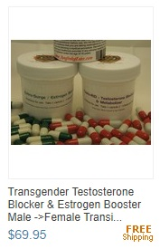 Transgender Testosterone Blocker & Estrogen Booster Male ->Female Transition