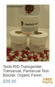 Testo-RID Testosterone Blocker -Transgender, Transexual Male -> Female M